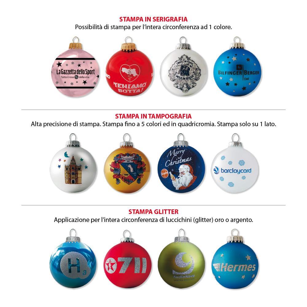Stampa Foto Su Palline Di Natale.Palline Di Natale Personalizzate In Vetro Soffiato Con