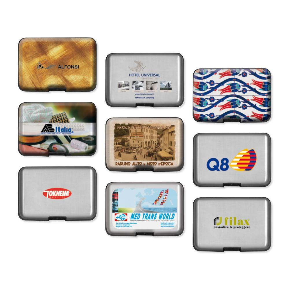 a1cc036e123815 Porta carte di credito in alluminio antiurto con divisori interni