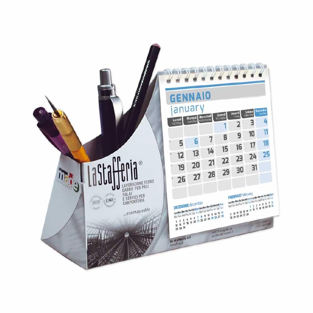 Calendario bimestrale da tavolo personalizzato con stampa a colori - Calendari da tavolo con foto ...