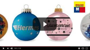 Guarda video Palline di Natale in vetro personalizzate
